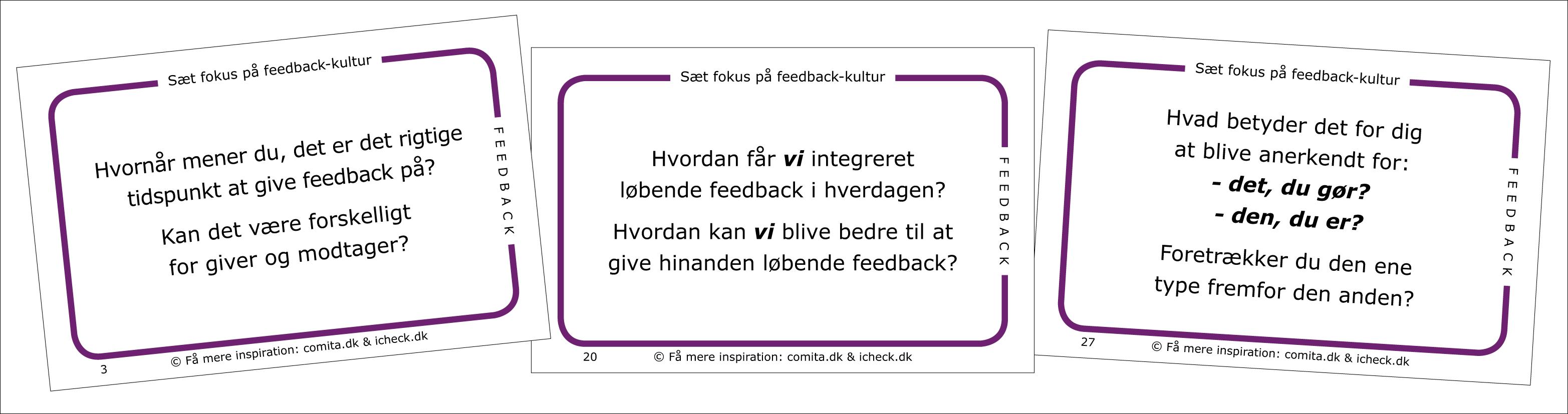 hvad betyder feedback